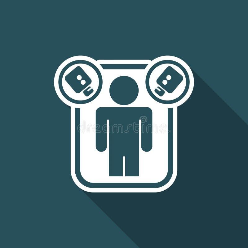 Ejemplo del vector del solo icono aislado de la realidad stock de ilustración