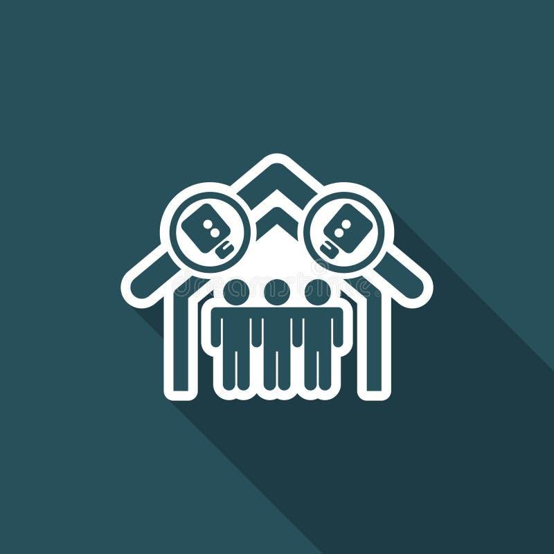 Ejemplo del vector del solo icono aislado de la realidad libre illustration