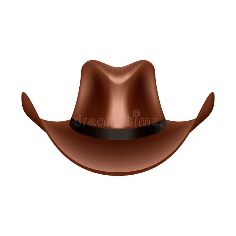 Ejemplo del vector del sombrero de vaquero ilustración del vector