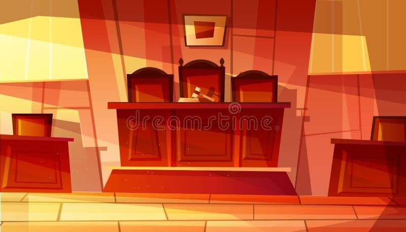 Ejemplo del vector del tribunal o del sitio de la corte ilustración del vector