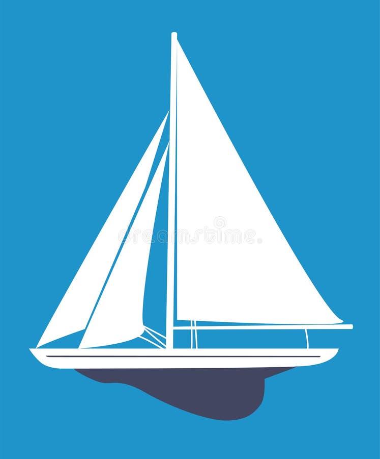 Ejemplo del vector del velero libre illustration
