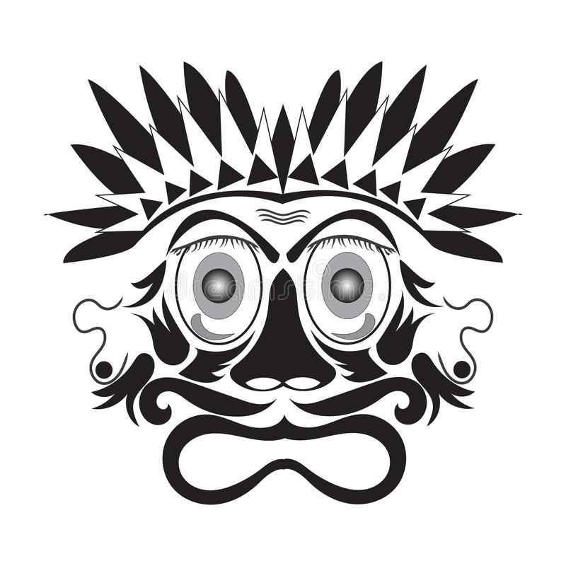 ejemplo del vector del vintage de la máscara libre illustration