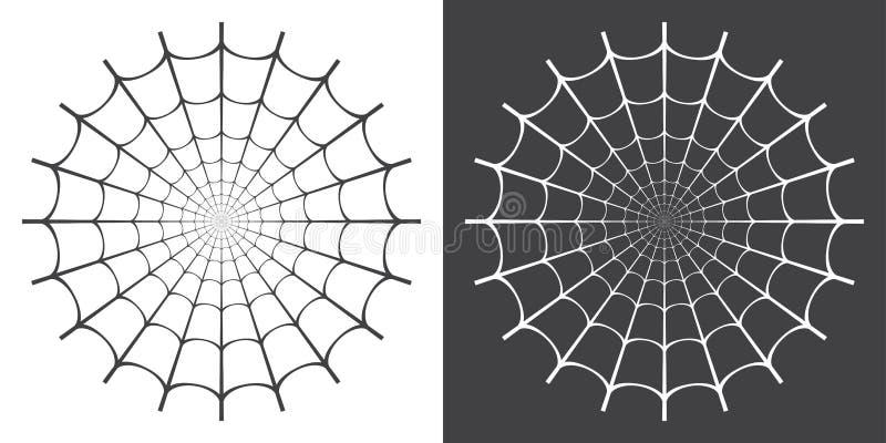 Ejemplo del vector del web de araña stock de ilustración