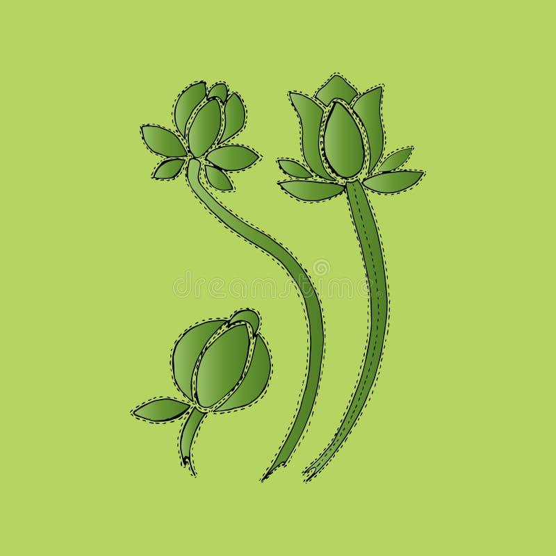 Ejemplo del verde en curso de floración, fondo libre illustration