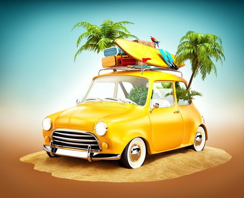 Ejemplo del viaje del verano ilustración del vector