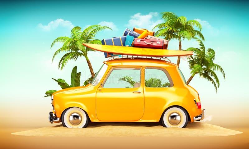 Ejemplo del viaje del verano stock de ilustración
