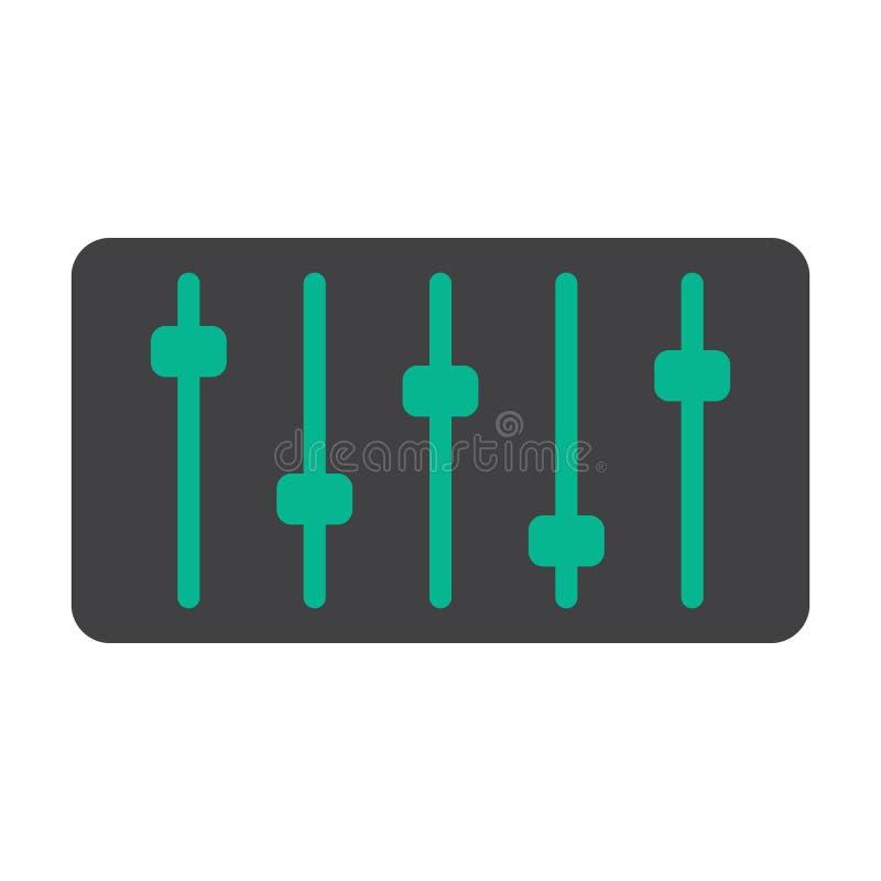 Ejemplo del volumen de sonidos ilustración del vector