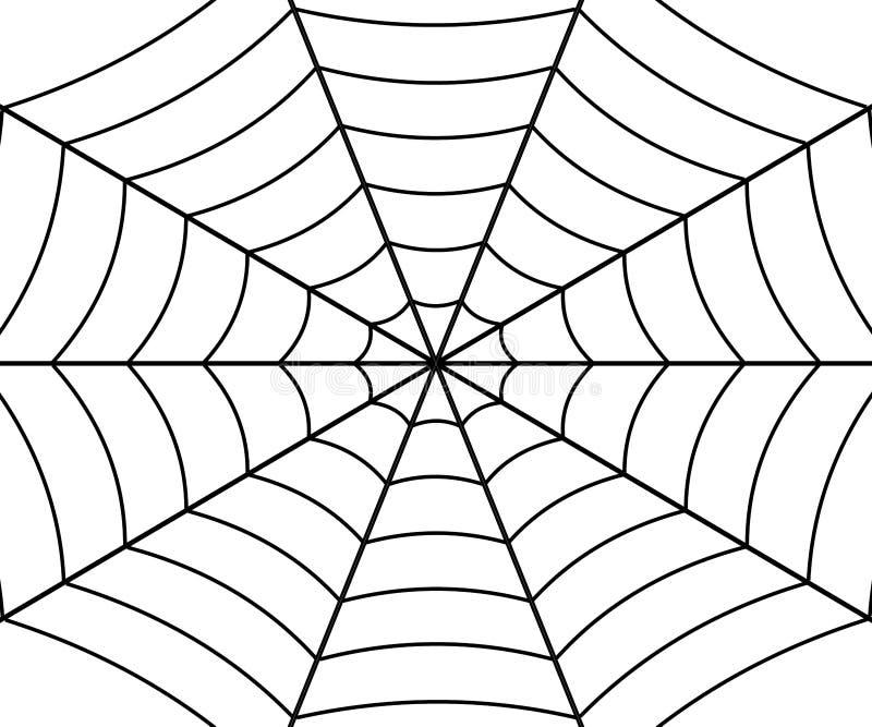 Ejemplo del web de ara?a ilustración del vector