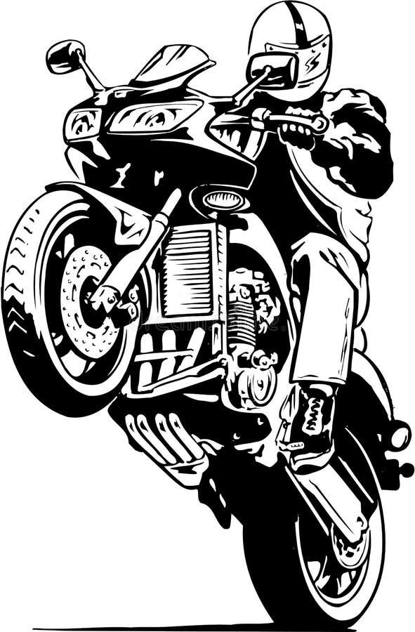 Ejemplo del Wheelie de la motocicleta libre illustration