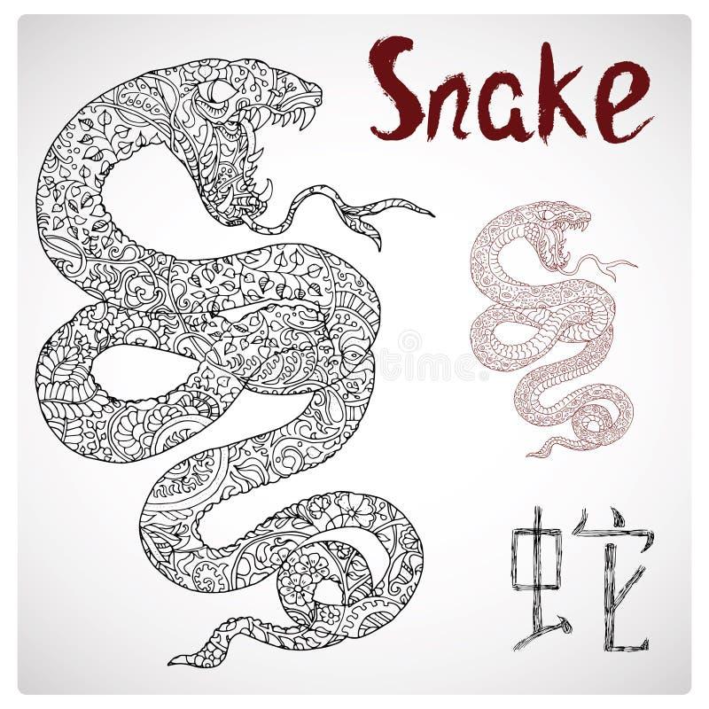 Ejemplo Del Zodiaco De La Serpiente Con El Modelo Y Las Letras ...