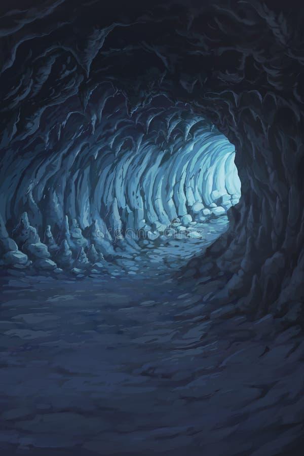 Ejemplo delante del túnel dentro de la cueva libre illustration