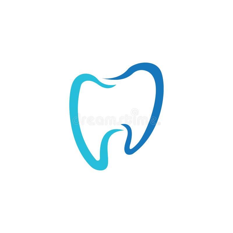 Ejemplo dental del vector de la plantilla del logotipo libre illustration