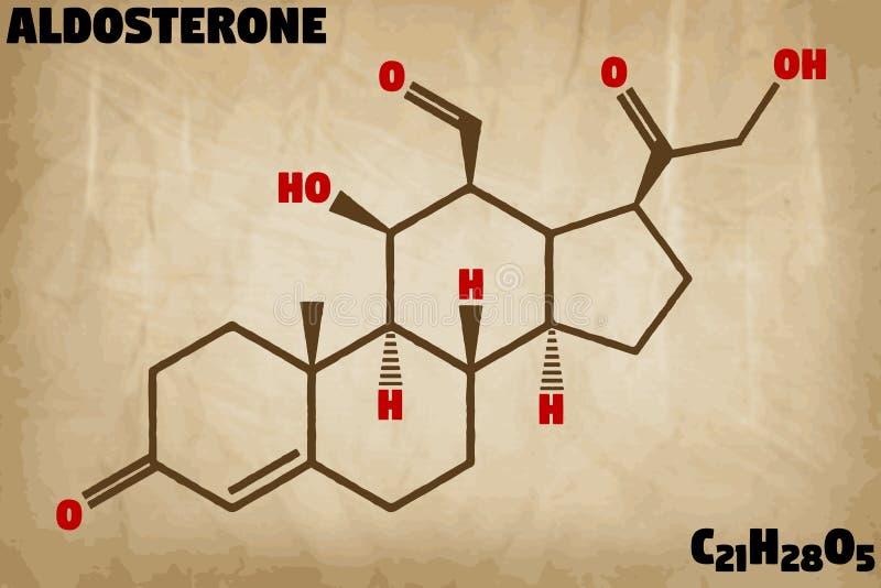 Ejemplo detallado de la molécula de la aldosterona libre illustration