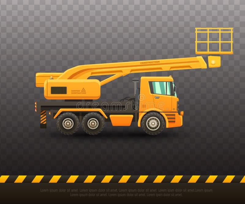 Ejemplo detallado del vector del camión de elevación libre illustration