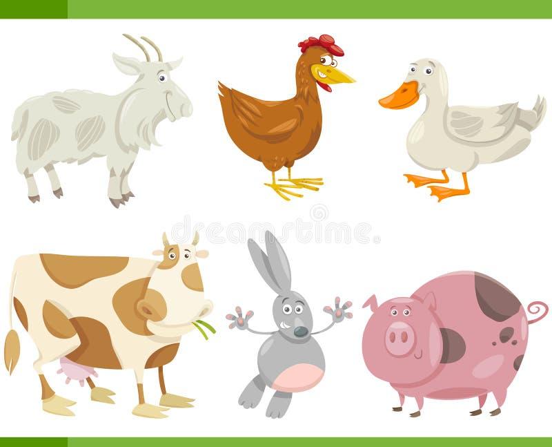 Ejemplo determinado de la historieta de los animales del campo stock de ilustración