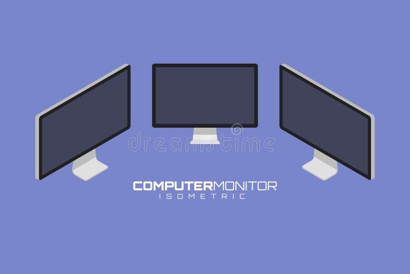 Ejemplo determinado del gráfico de vector del icono del ordenador ilustración del vector