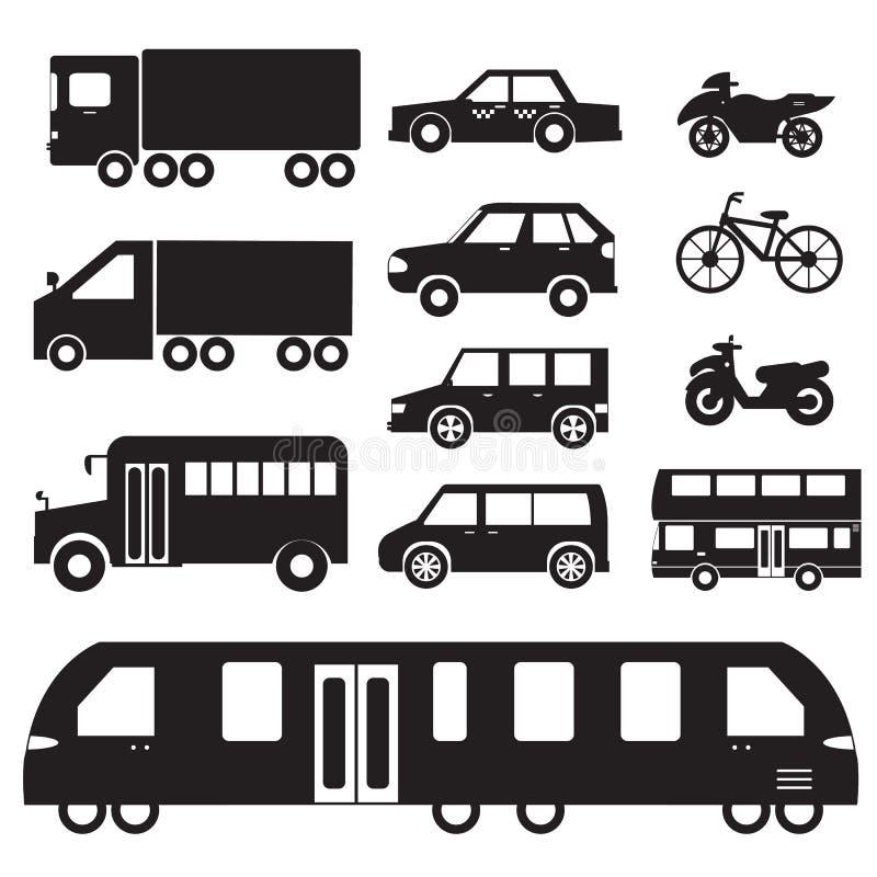 Ejemplo determinado del pictograma del icono del concepto de los coches planos libre illustration