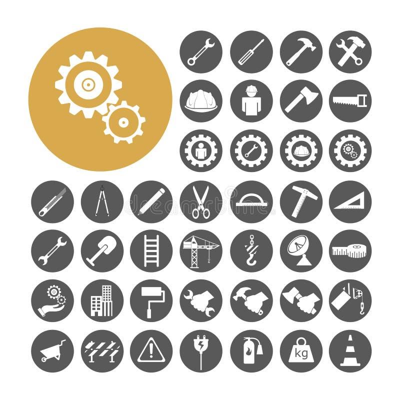 Ejemplo determinado del vector de Icon del ingeniero libre illustration