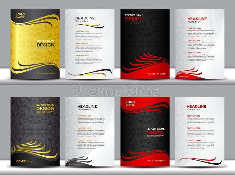 Ejemplo determinado del vector del informe anual de la cubierta, plantilla de la cubierta, fondo del polígono libre illustration