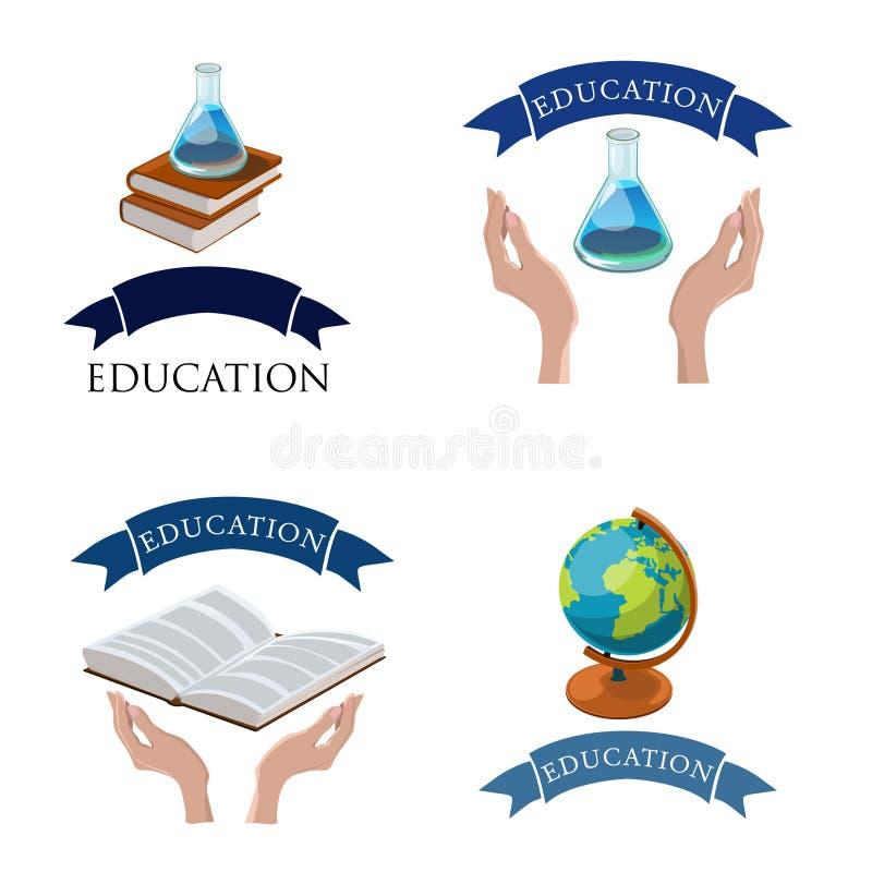 Ejemplo determinado del vector del logotipo de la educación stock de ilustración
