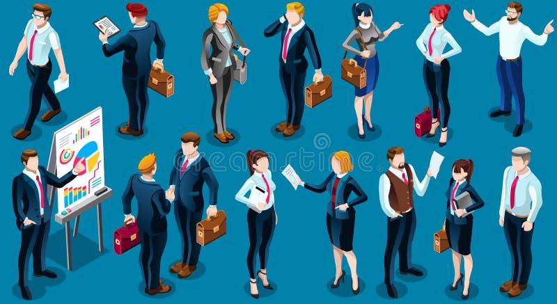 Ejemplo determinado isométrico del vector del icono de unidad de negocio de la gente 3D libre illustration