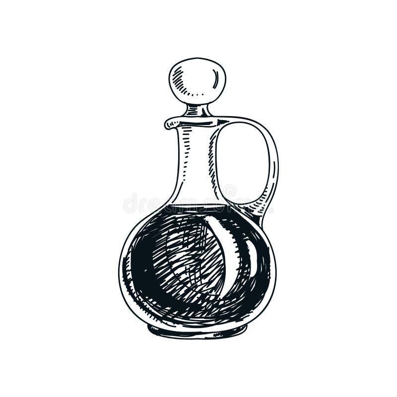 Ejemplo dibujado mano de la jarra del vino del vector libre illustration