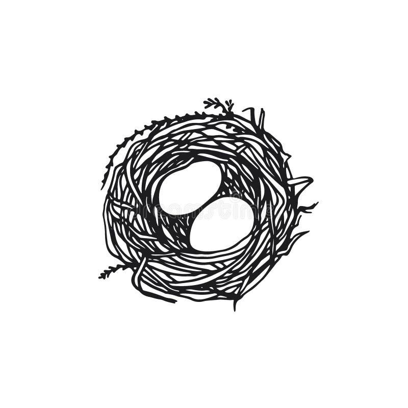 Ejemplo dibujado mano de la jerarquía ilustración del vector
