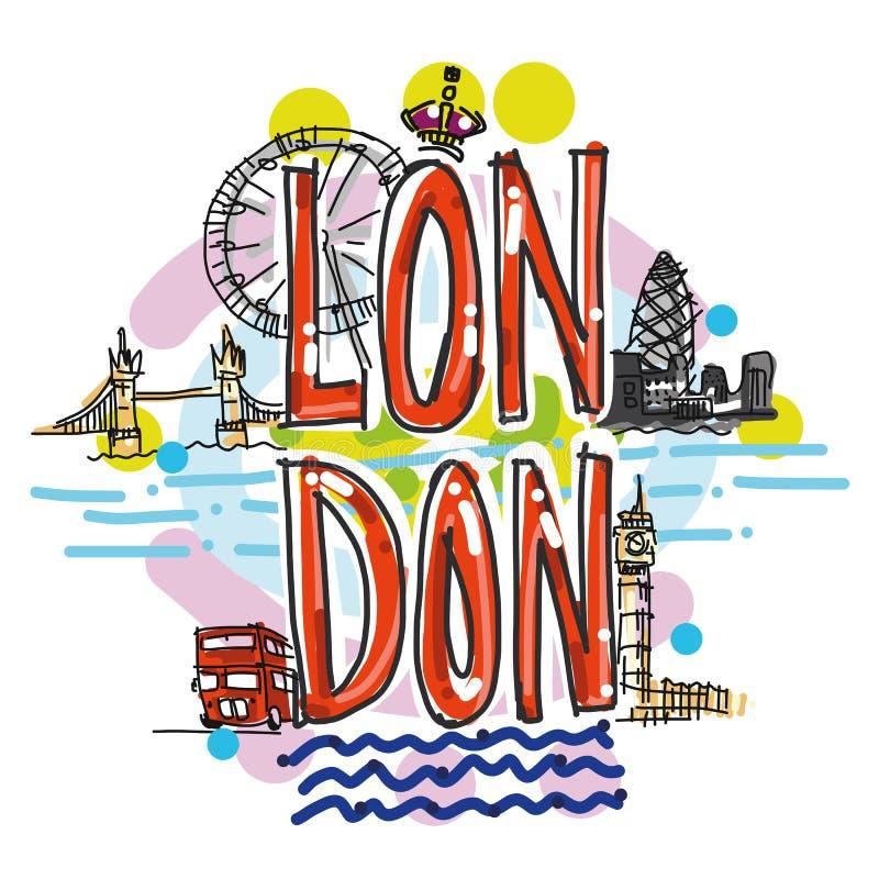 Ejemplo dibujado mano del ejemplo de la ciudad de Londres libre illustration