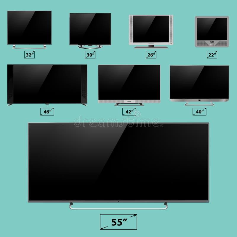 Ejemplo digital del vector de la exhibición del dispositivo de la tecnología del dispositivo electrónico de la plantilla del moni libre illustration