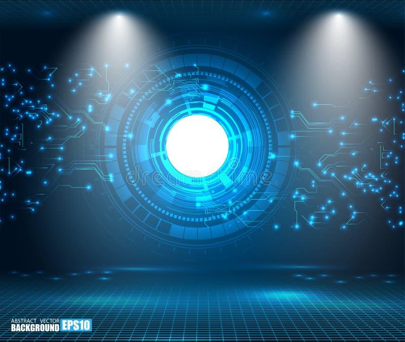 Ejemplo digital futurista del vector del fondo de la innovación de la tecnología del fondo del concepto de alta tecnología abstra ilustración del vector