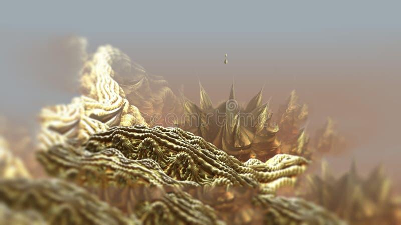Ejemplo digital macro 3d de la naturaleza de la roca de la estructura geométrica abstracta de la superficie libre illustration