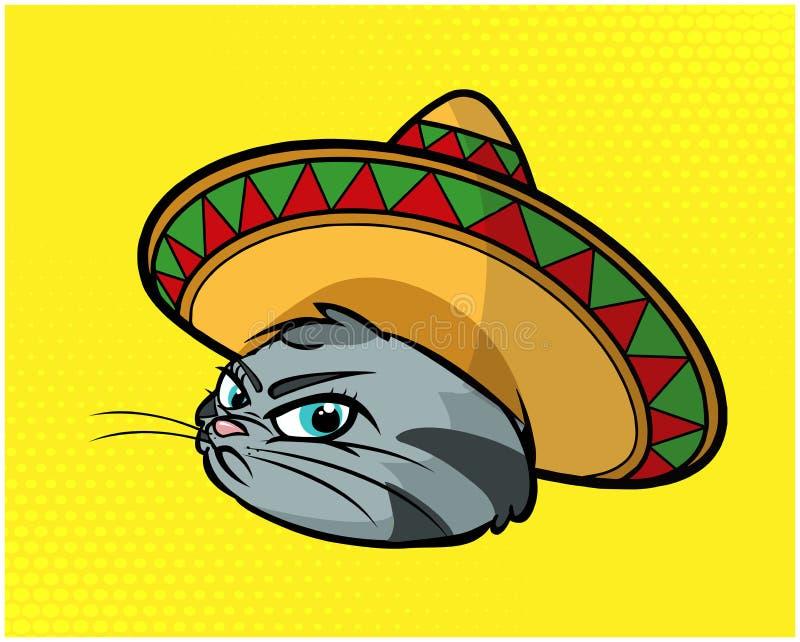 Ejemplo divertido 04 del gato stock de ilustración