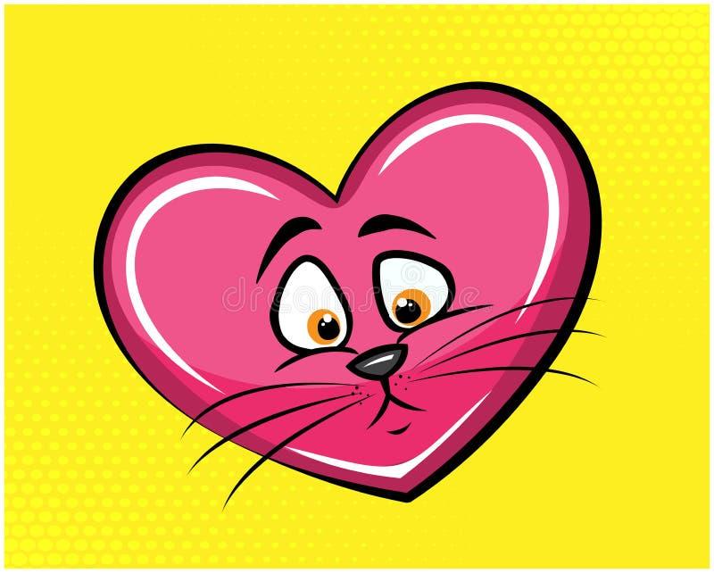 Ejemplo divertido 01 del gato ilustración del vector
