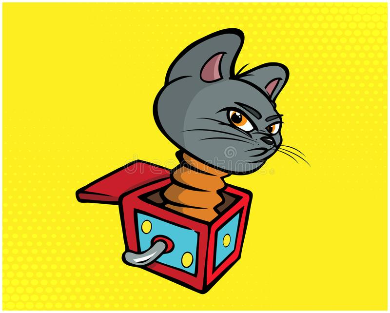 Ejemplo divertido 03 del gato ilustración del vector