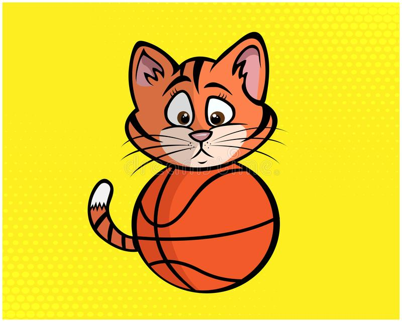 Ejemplo divertido 06 del gato ilustración del vector