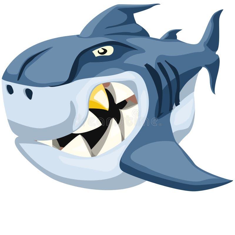 Tiburón demasiado malo stock de ilustración