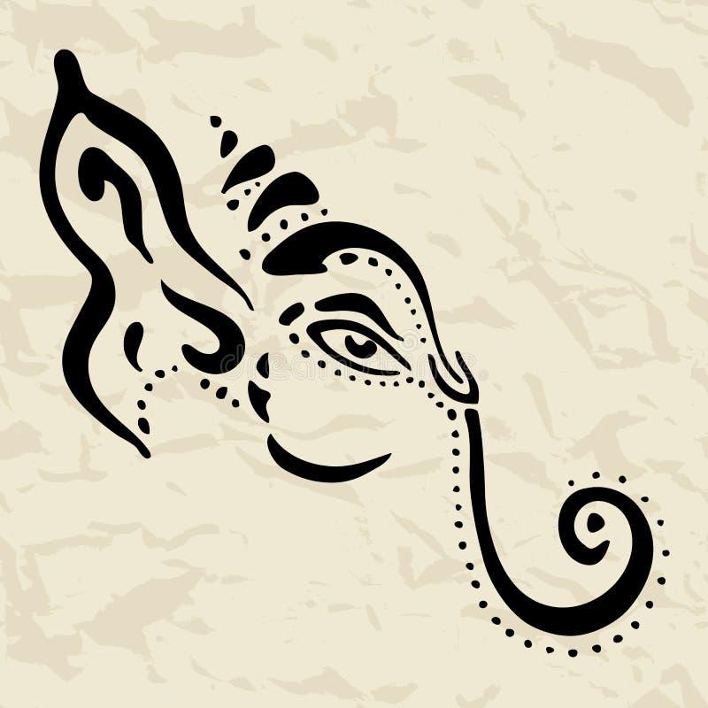 Ejemplo drenado mano de Ganesha. stock de ilustración