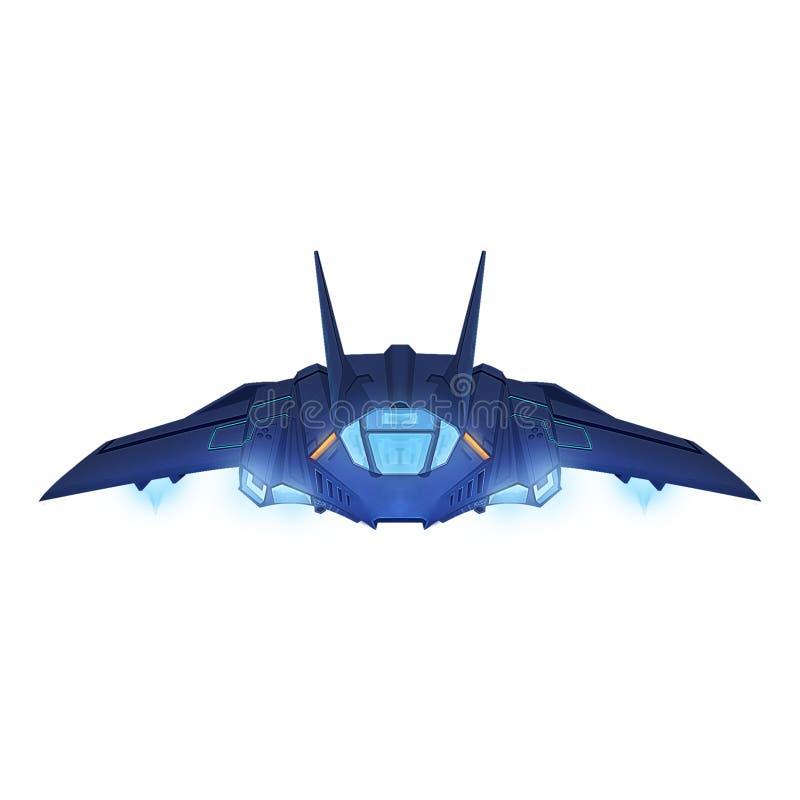 Ejemplo: El avión de combate ilustración del vector