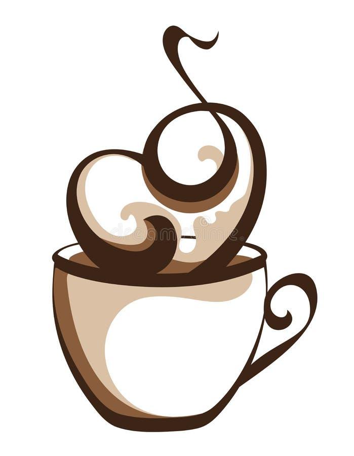 Ejemplo elegante del café ilustración del vector