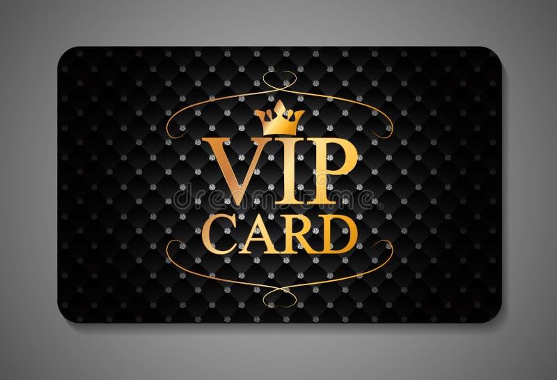 Ejemplo elegante del vector de la tarjeta del VIP de la oscuridad stock de ilustración