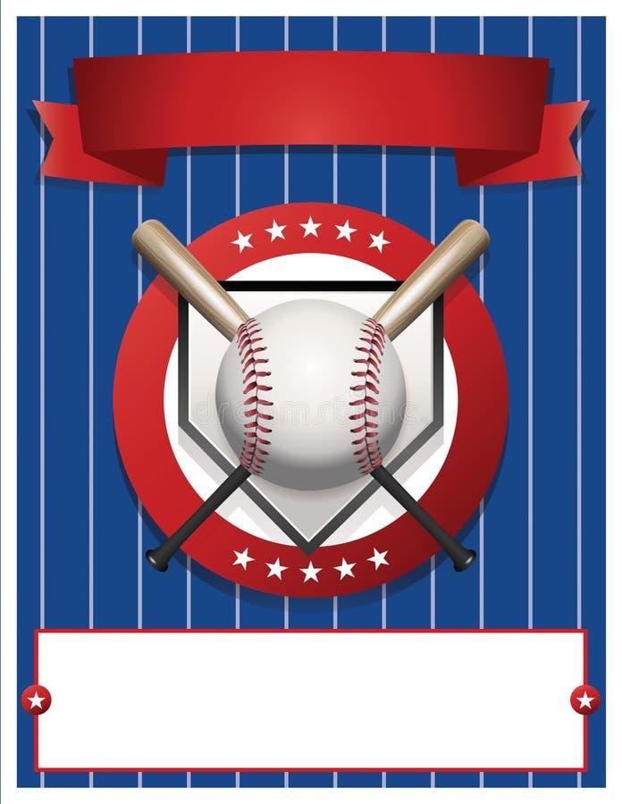 Ejemplo en blanco de la plantilla del aviador del béisbol stock de ilustración