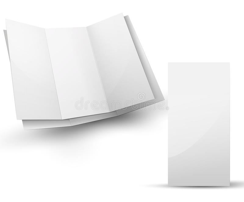 Esconda el folleto doblado para su presentación del diseño libre illustration