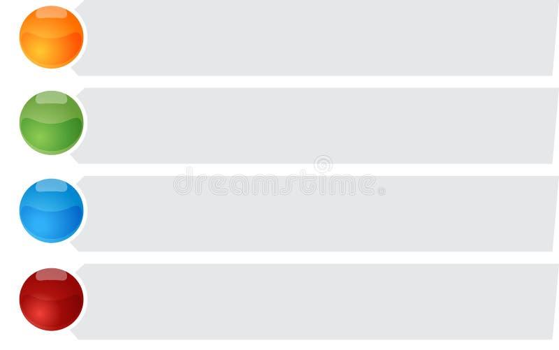 Ejemplo en blanco del liet de la bala del diagrama del negocio cuatro ilustración del vector
