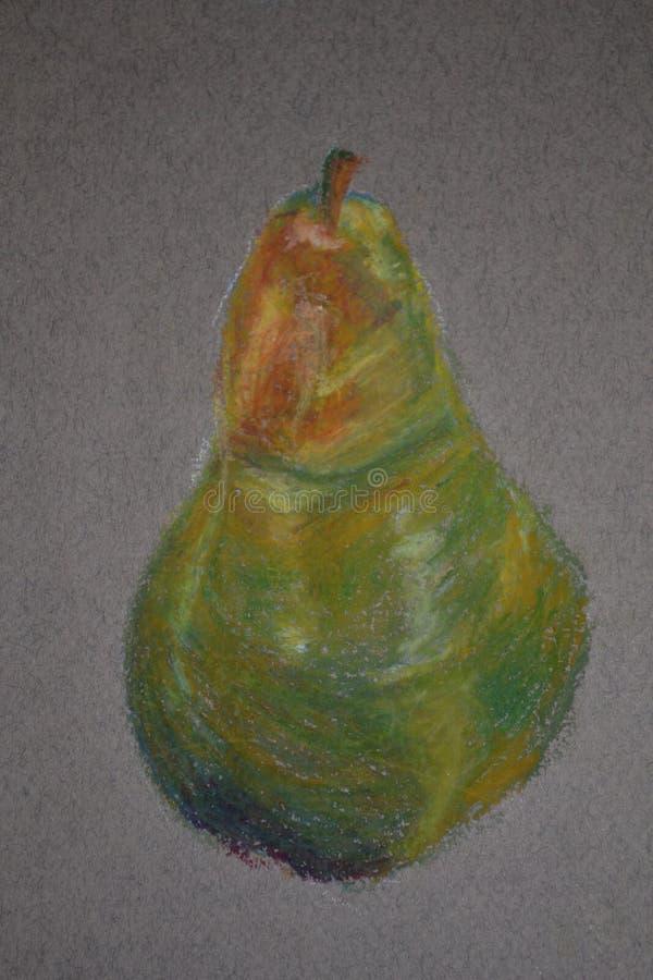 Ejemplo en colores pastel de la pera imagenes de archivo
