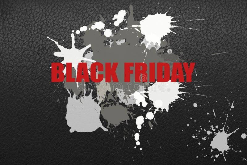 Ejemplo en el tema de la venta negra de viernes foto de archivo libre de regalías