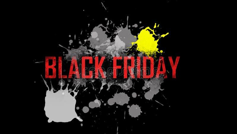 Ejemplo en el tema de la venta negra de viernes imagen de archivo libre de regalías