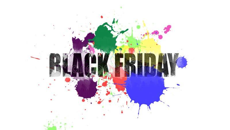 Ejemplo en el tema de la venta negra de viernes foto de archivo