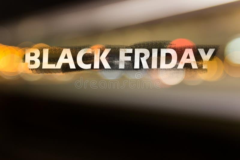 Ejemplo en el tema de la venta negra de viernes fotografía de archivo libre de regalías