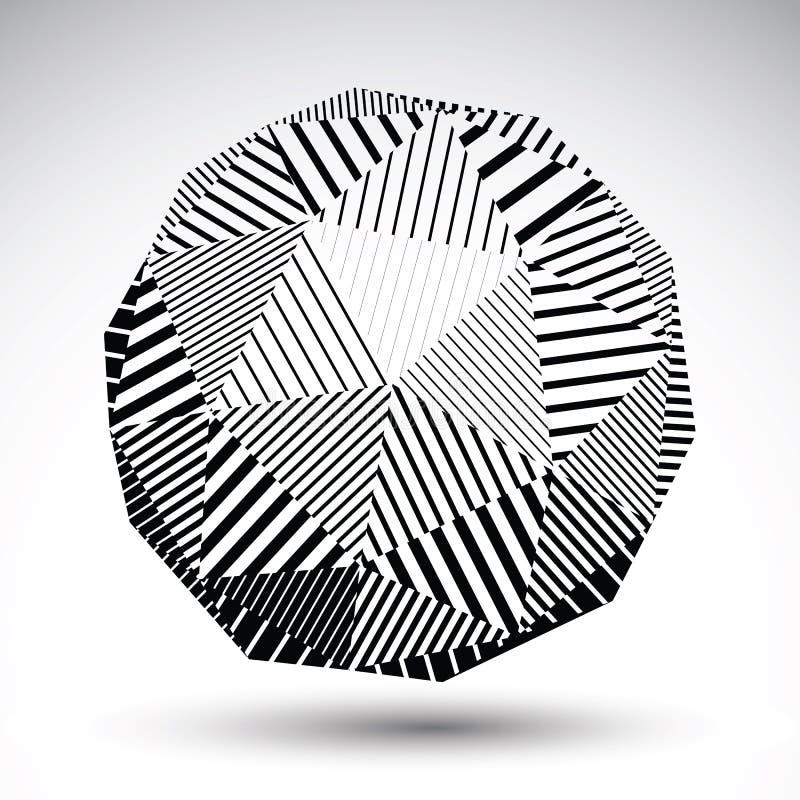 Ejemplo esférico simétrico de la tecnología del vector 3D, perspecti ilustración del vector