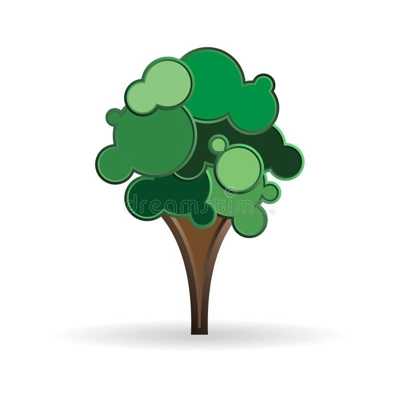 Ejemplo estilizado del árbol imagen de archivo libre de regalías